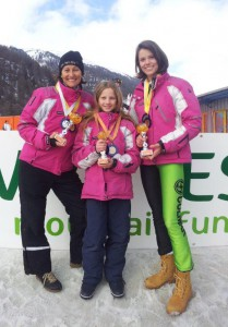 Cristiane,Amelie, Annika Skibob WM